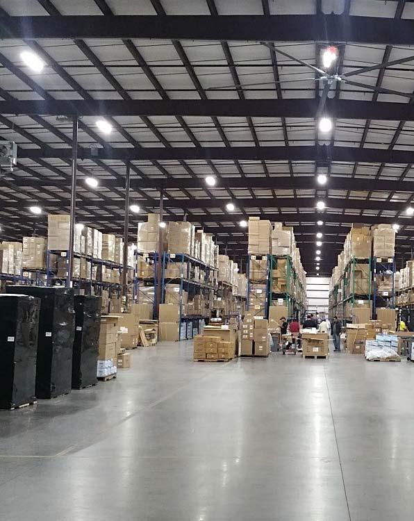 Raktár és csarnokvilágítás, Ipari LED